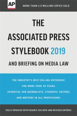 The Associated Press Stylebook 2019 and Briefing on Media Law