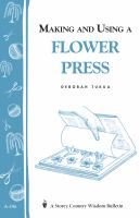 Making and Using a Flower Press