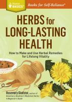 Herbs for Long-lasting Health.