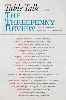 Table talk : from The threepenny review