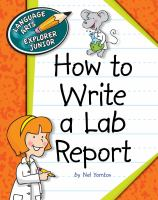 How to Write a Lab Report.