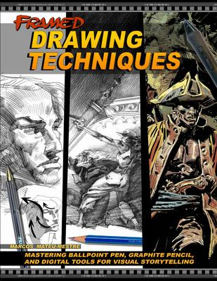 Framed Drawing Techniques :  Mastering Ballpoint Pen, Graphite Pencil, and Digital Tools for Visual Storytelling