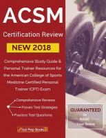 ACSM new 2018 certification review
