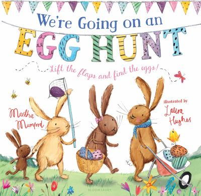 Book cover for We're going on an egg hunt