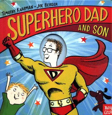 Book cover for  Superhero dad and son