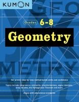 Geometry workbook I. Grades 6-8.